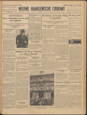 Nieuwe Haarlemsche Courant 1940-02-28