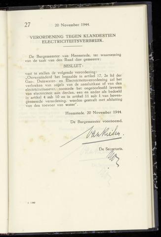 Raadsnotulen Heemstede 1944-11-20