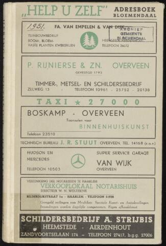 Adresboeken Bloemendaal 1951