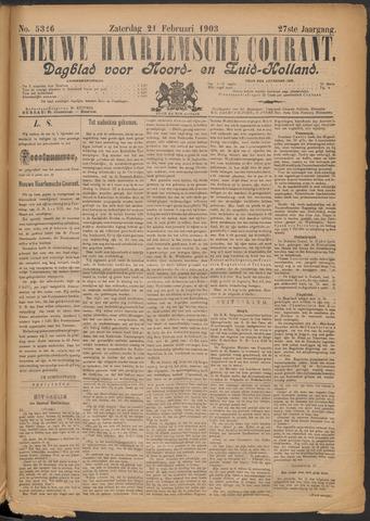 Nieuwe Haarlemsche Courant 1903-02-21