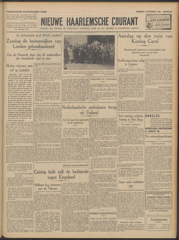 Nieuwe Haarlemsche Courant 1940-09-09