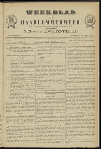 Weekblad van Haarlemmermeer 1885-11-21