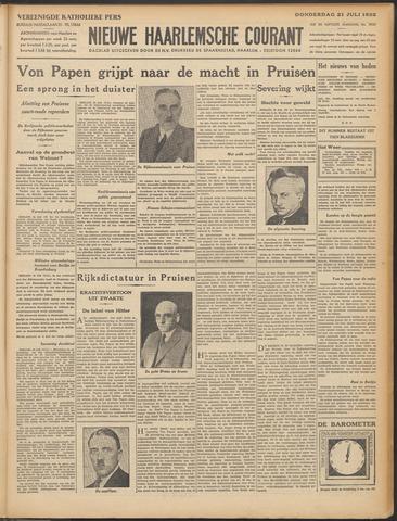 Nieuwe Haarlemsche Courant 1932-07-21