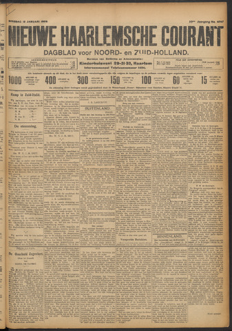 Nieuwe Haarlemsche Courant 1909-01-12