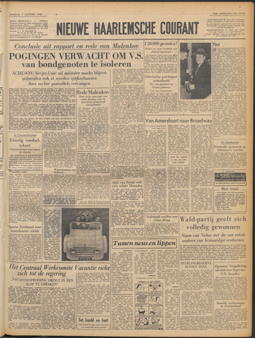 Nieuwe Haarlemsche Courant 1952-10-07