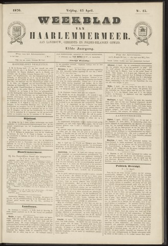 Weekblad van Haarlemmermeer 1870-04-15