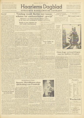 Haarlem's Dagblad 1954-01-22