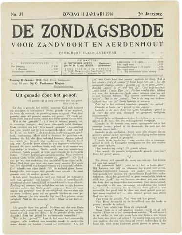 De Zondagsbode voor Zandvoort en Aerdenhout 1914