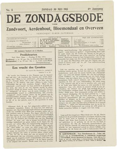 De Zondagsbode voor Zandvoort en Aerdenhout 1915-05-30