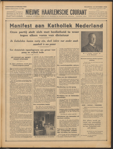 Nieuwe Haarlemsche Courant 1933-10-16