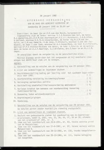 Raadsnotulen Heemstede 1982-01-28