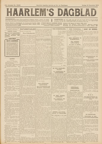 Haarlem's Dagblad 1926-12-24