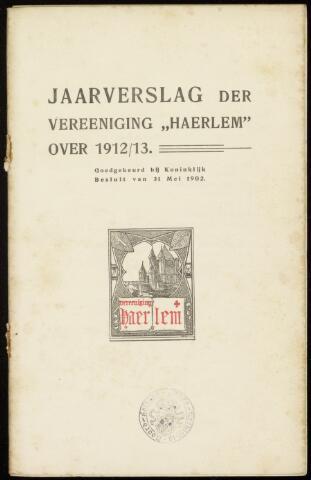 Jaarverslagen en Jaarboeken Vereniging Haerlem 1912