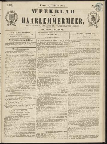 Weekblad van Haarlemmermeer 1868-08-07