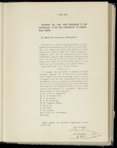 Raadsnotulen Heemstede 1910-05-03