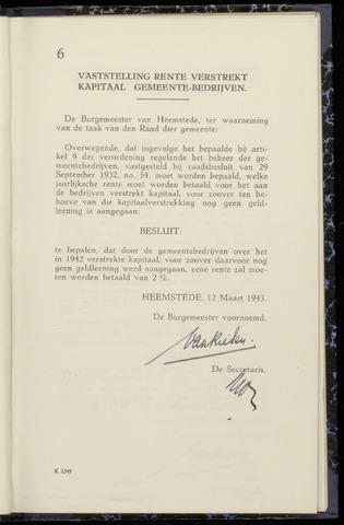 Raadsnotulen Heemstede 1943-03-12
