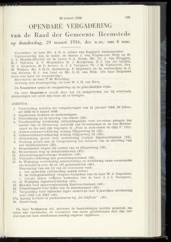 Raadsnotulen Heemstede 1956-03-29