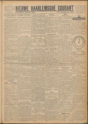 Nieuwe Haarlemsche Courant 1922-11-09