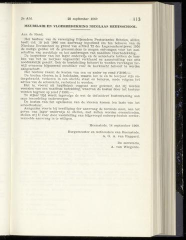 Raadsnotulen Heemstede 1960-09-29