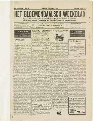 Het Bloemendaalsch Weekblad 1940