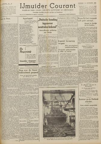 IJmuider Courant 1939-11-14