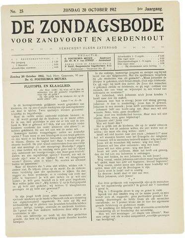 De Zondagsbode voor Zandvoort en Aerdenhout 1912-10-20