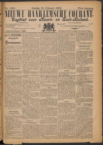 Nieuwe Haarlemsche Courant 1903-02-24