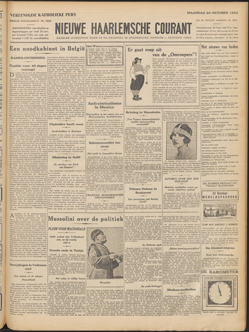 Nieuwe Haarlemsche Courant 1932-10-24