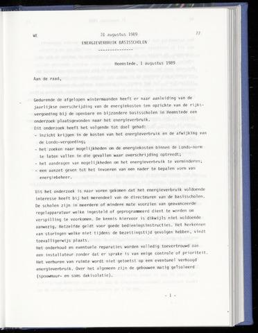 Raadsnotulen Heemstede 1989-08-31
