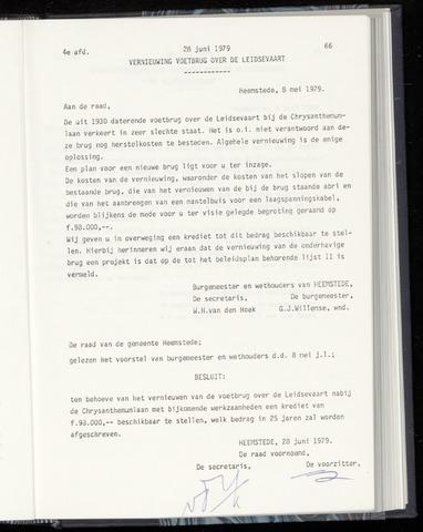 Raadsnotulen Heemstede 1979-06-28