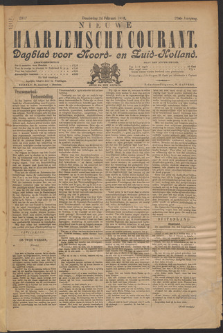 Nieuwe Haarlemsche Courant 1898-02-24