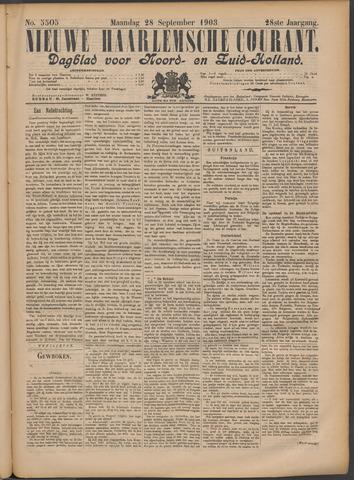 Nieuwe Haarlemsche Courant 1903-09-28