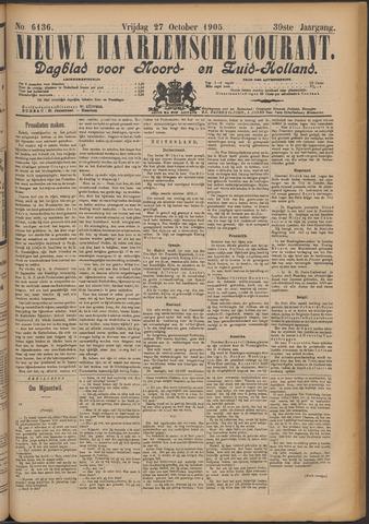 Nieuwe Haarlemsche Courant 1905-10-27