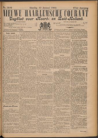 Nieuwe Haarlemsche Courant 1903-01-13