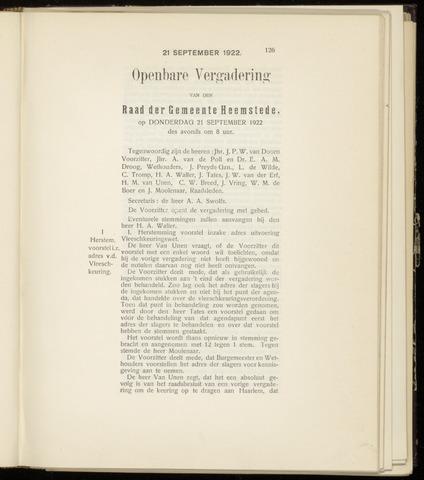 Raadsnotulen Heemstede 1922-09-21
