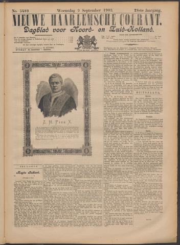 Nieuwe Haarlemsche Courant 1903-09-09