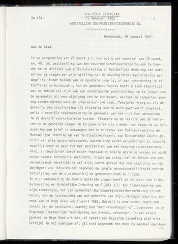Raadsnotulen Heemstede 1982-02-25