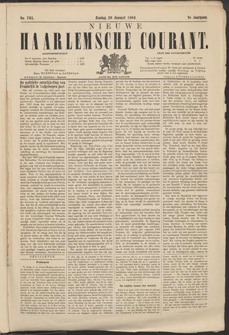 Nieuwe Haarlemsche Courant 1884-01-20