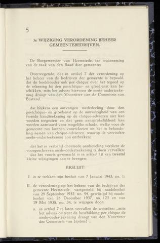 Raadsnotulen Heemstede 1943-02-24