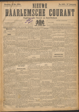 Nieuwe Haarlemsche Courant 1906-12-24