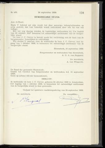 Raadsnotulen Heemstede 1959-09-24