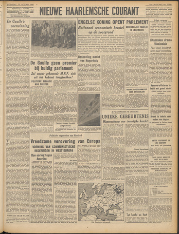 Nieuwe Haarlemsche Courant 1947-10-22