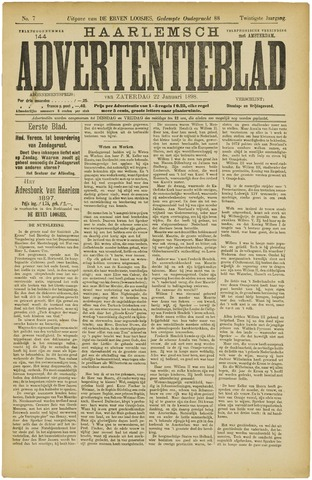 Haarlemsch Advertentieblad 1898-01-22