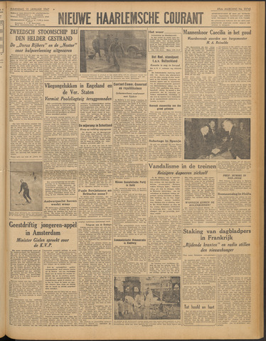 Nieuwe Haarlemsche Courant 1947-01-13