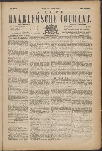 Nieuwe Haarlemsche Courant 1889-02-24
