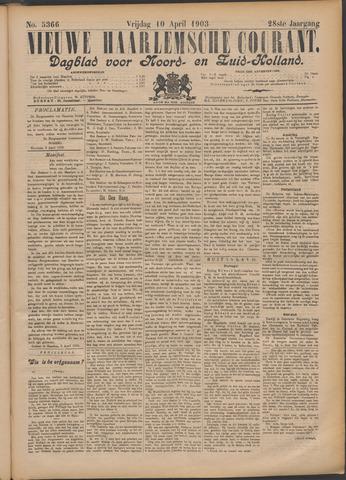 Nieuwe Haarlemsche Courant 1903-04-10
