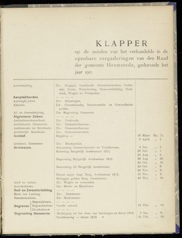 Raadsnotulen Heemstede 1912-01-01