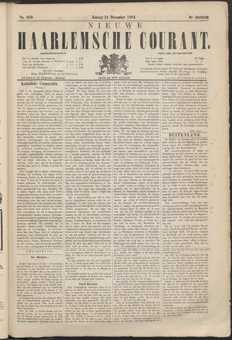 Nieuwe Haarlemsche Courant 1884-12-21