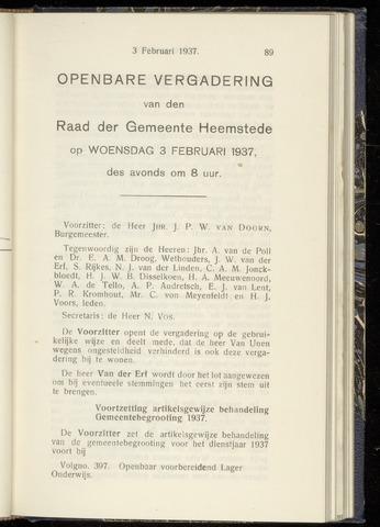 Raadsnotulen Heemstede 1937-02-03