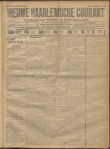 Nieuwe Haarlemsche Courant 1911-09-01